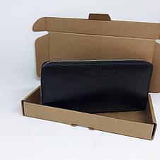 Портмоне клатч бумажник кошелек Walltory мужской  ручной работы  кожаный. Гаманець шкіряний чорний , фото 2