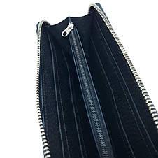 Портмоне клатч бумажник кошелек Walltory мужской  ручной работы  кожаный. Гаманець шкіряний чорний , фото 3