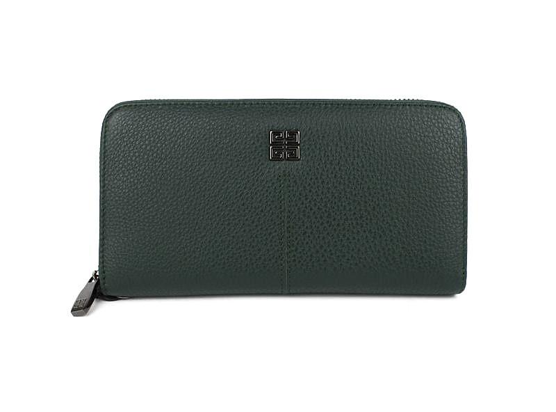 ac0561190fe1 Кошелек кожаный женский на молнии зеленый Givenchy 6288- купить по ...