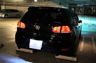 Фонари VW Golf 6 тюнинг Led оптика (тонированные)
