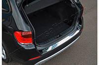 Накладка из стали на задний бампер OmsaLine (нерж.) - BMW X3 F-25 2011+ гг.