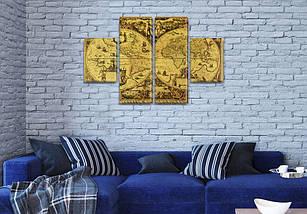 Модульная картина Карта древности   на Холсте, 80x130 см, (40x30-2/80х30-2), фото 3