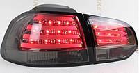 Диодные фонари тюнинг оптика VW Golf 6 (тонированные)