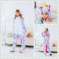 Пижама Кигуруми Единорог Звездный микрофибра (велсофт), фото 1