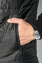 Куртка мужская демисезон 491F003 (Черно-бордовый), фото 3