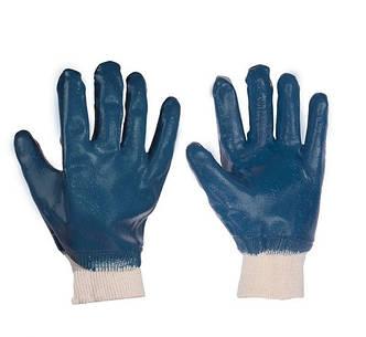 """Перчатки масло-бензостойкие утепленные нитрил. вязаный манжет (синие) 10,5"""" MasterTool 83-0406-В, фото 2"""