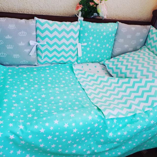 Комплект: бортики + постельное белье