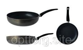 Сковорода глубокая алюминиевая покрытие Xylan 260х60 мм GUSTO GT-2101-26