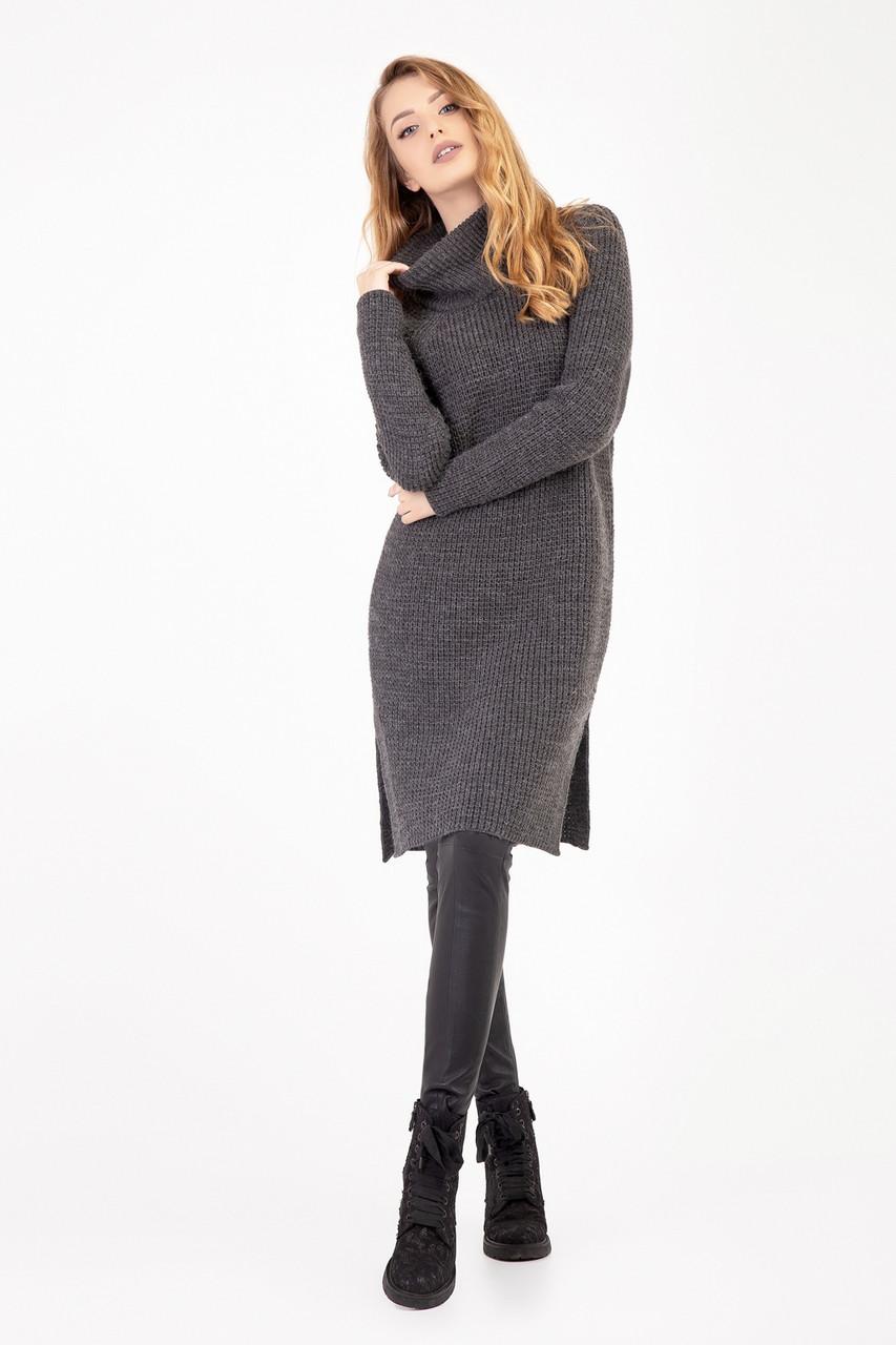 ab5c20d7ee39b0e Теплое вязаное платье-туника плотной вязки - Оптово-розничный магазин  одежды