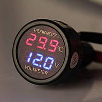 Вольтметр и термометр для авто Df-01 2in1