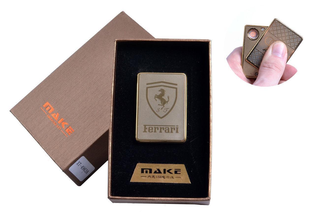 """USB зажигалка в подарочной упаковке """"Ferrari"""" №4693A-4"""