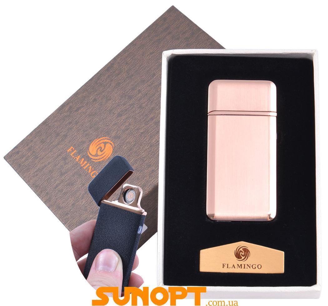 """USB  зажигалка в подарочной упаковке """"Flamingo"""" (Двухсторонняя спираль накаливания) №XT-4880-2"""