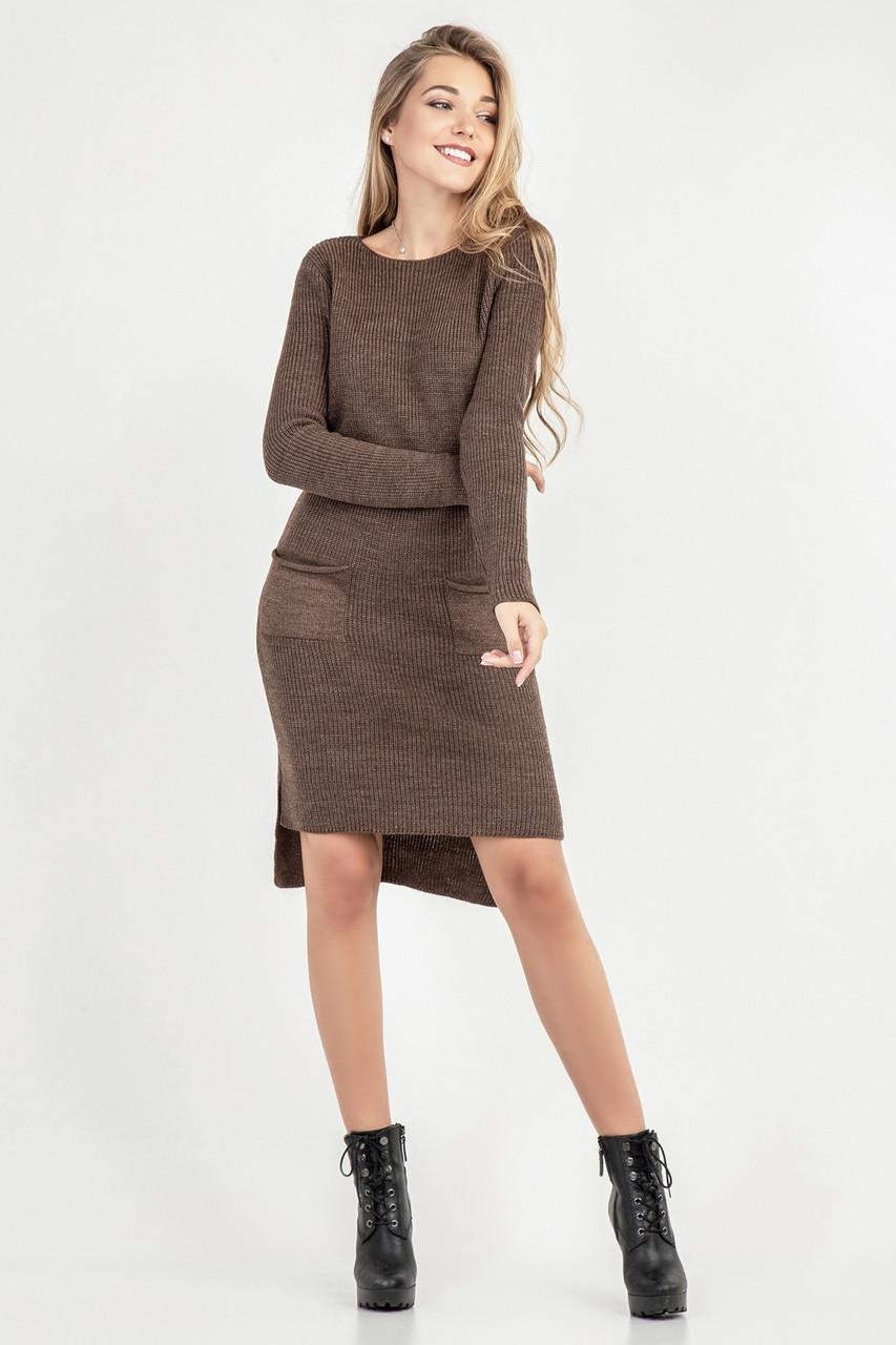 432783622fe Зимнее вязаное платье женское прямое от оптово-розничного магазина ...