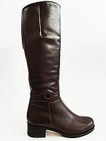 Сапоги женские зимние кожаные коричневые Romax 5400-14