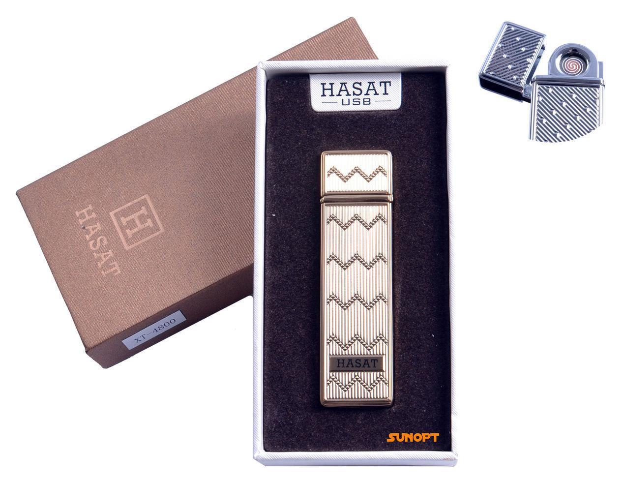 """USB зажигалка в подарочной упаковке """"Hasat"""" (Двухсторонняя спираль накаливания) №4800-3"""