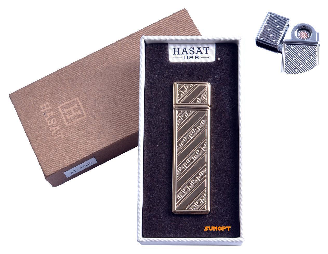 """USB зажигалка в подарочной упаковке """"Hasat"""" (Двухсторонняя спираль накаливания) №4800-9"""