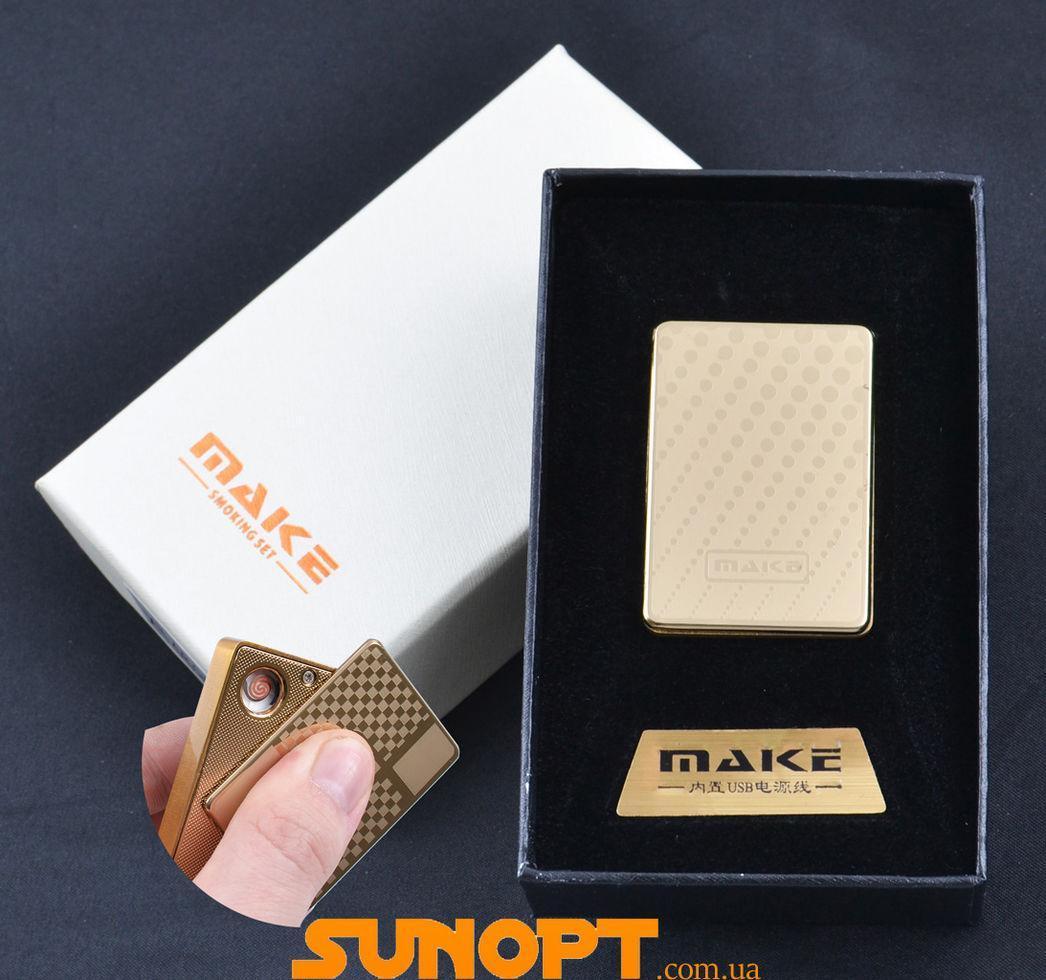 USB зажигалка-слайдер в подарочной упаковке MAKE (Спираль накаливания) №XT-4692-10