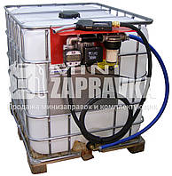 Мини АЗС на базе еврокуба для диз топлива 220В 56л/мин с электронным счетчиком с большим дисплеем PIUSI Италия