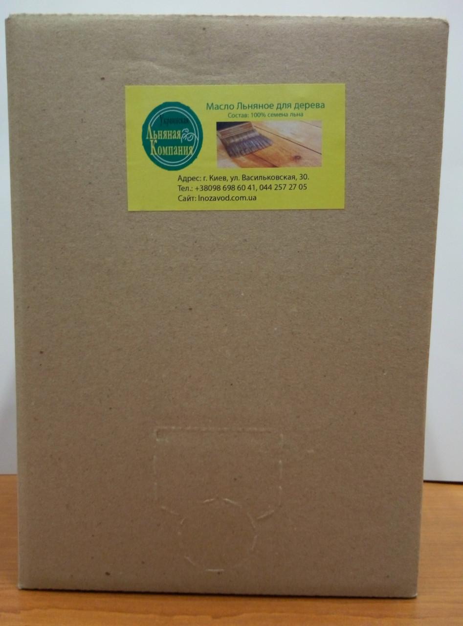 Льняное масло 5 л канистра для дерева (пропитка дерева), фото 1