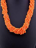 Бусы из натурального камня Коралл 68 см. - яркое модное стильное женское украшение из коралла