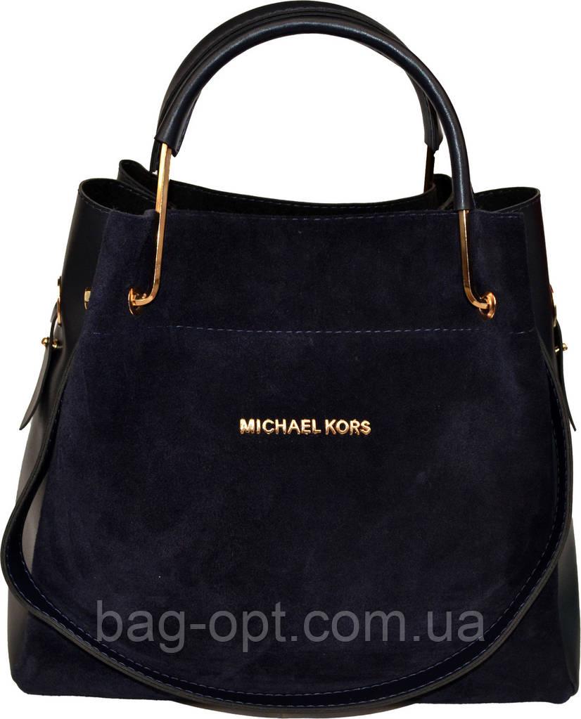 Новинка Женская синяя сумка с клачем из натуральной замши Michael Kors  (29 32 13 651cfaf242e