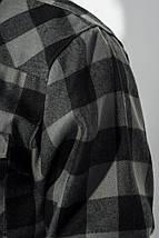 Рубашка мужская стиль casual 282V001 (Серо-черный), фото 3