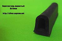 Уплотнитель из губчатой резины 12х10мм, 14х12мм, 21х15мм