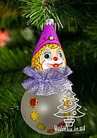 """Стеклянная елочная игрушка """"Клоун"""" 1143"""