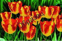 """Схема для частичной вышивки бисером """"Красно-желтые тюльпаны"""""""