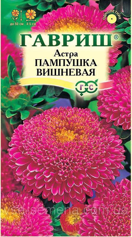 Астра Пампушка вишневая 0,3 г (Гавриш)