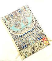 Шарф Venera Италия кашемир серо-голубого цвета