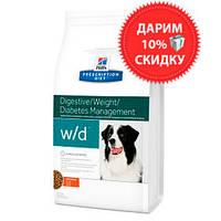 Hill's PD Canine W/D для собак при ожирении и сахарном диабете 1,5 кг
