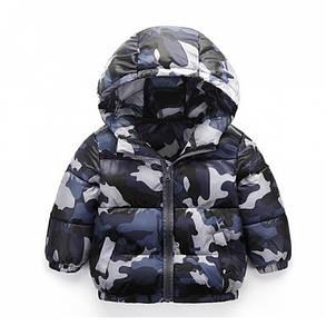 Куртка детская демисезонная на мальчика  весна-осень  камуфляж, фото 2