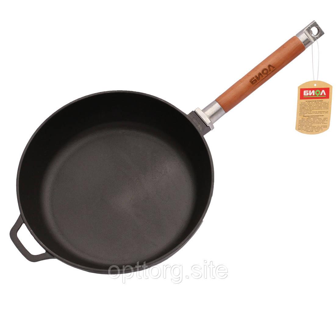 Сковорода чугунная Оптима 260х45 мм БИОЛ 0126