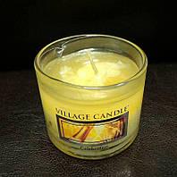 """Аромасвеча """"Шампанское"""" в стекле Village Candle 36 гр"""