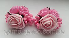 Шпилька для волосся з рожевими трояндами