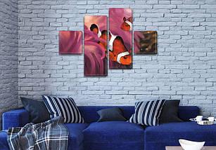 Модульная картина Рыба Клоун  на ПВХ ткани, 70x110 см, (25x25-2/65х25-2), фото 3