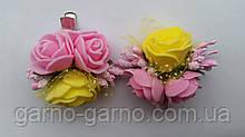 Шпилька для волосся з рожевими трояндами Жовтий