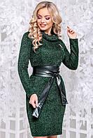 Теплу сукню з ангори травичка комір хомут 44-50 розміру зелене, фото 1