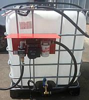 Мини АЗС на базе еврокуба для дизельного топлива 220В 56л/мин с электронным счетчиком PIUSI Италия