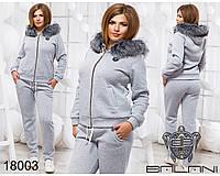 Теплый спортивный костюм - 18003