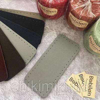 Дно для сумки из эко-кожи *27*12),цвет серый