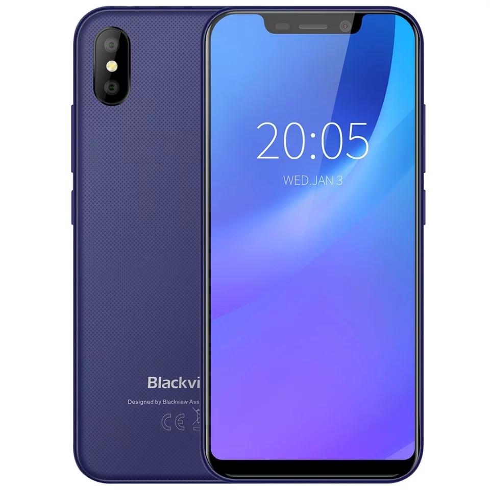 Смартфон Blackview A30 Blue 2\16Гб сканер лица + чехол + пленка