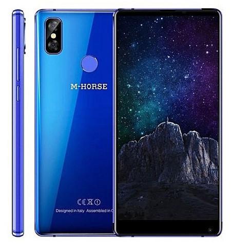 "Смартфон M-Horse Pure 2 Blue 4/64Gb, 16+2/13Мп, MT6750, 2sim, 5.99"" IPS, 3600мАч, GPS, 8 ядра, 4G"