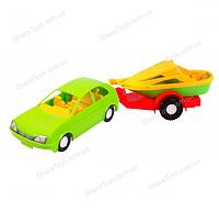 Машина  авто - купе с прицепом