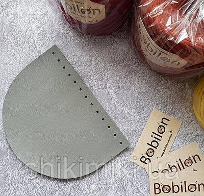 Крышка для сумки полукруглая из экокожи,серая