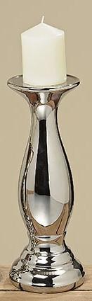 Подсвечник Эльза серебряная керамика h29см цена за 1шт.