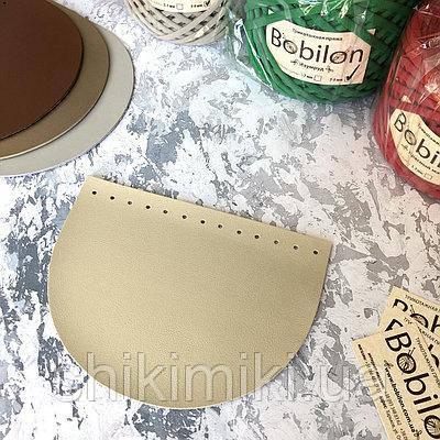 Крышка для сумки полукруглая из эко-кожи, цвет бежевое золото
