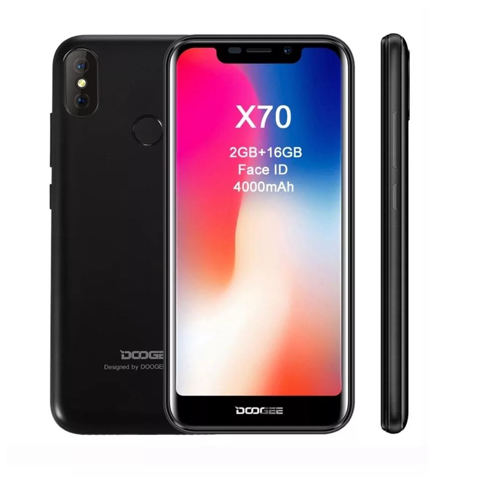 "Смартфон Doogee X70 Black 5.5"" 19;9 4000mAh+чехол+пленка"