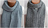 Красивый вязанный шарф, фото 3